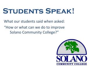 Students Speak!