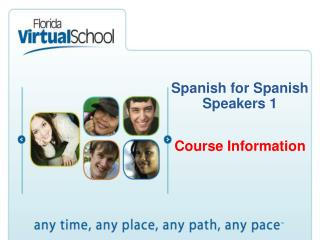 Spanish  for Spanish Speakers 1