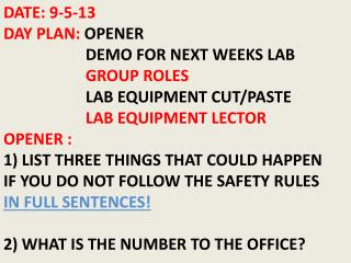 Common Laboratory Equipment