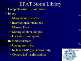 EPAT Storm Library