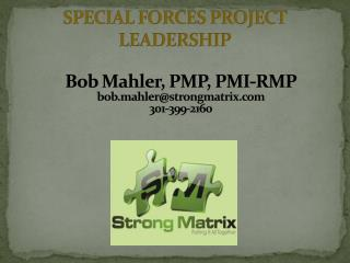 SPECIAL FORCES PROJECT LEADERSHIP