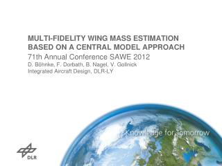 MULTI-FIDELITY WING MASS ESTIMATION BASED ON A CENTRAL MODEL APPROACH