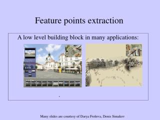 Feature points extraction