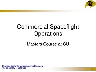 Commercial Spaceflight Operations