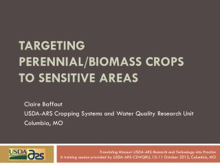 Targeting perennial/biomass crops to sensitive areas