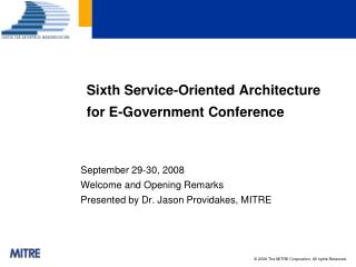 Sixth Service-Oriented Architecture for E-Government Conference
