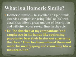What is a Homeric Simile?