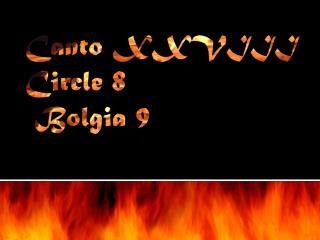 Canto XXVIII Circle 8 Bolgia  9