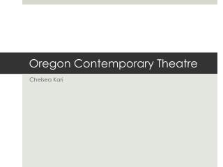 Oregon Contemporary Theatre