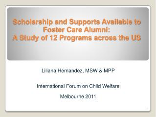Liliana Hernandez, MSW & MPP International Forum on Child Welfare