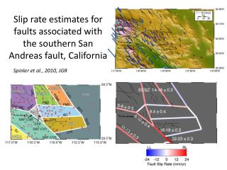 Slip rate estimates for faults associated with the southern San Andreas fault, California