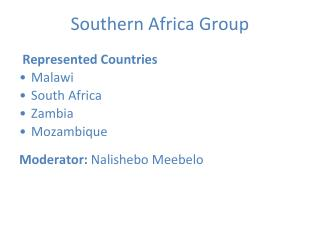 Southern Africa Group