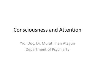 Consciousness and Attention