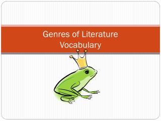Genres of Literature Vocabulary