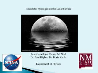 Search for Hydrogen on  the  Lunar Surface