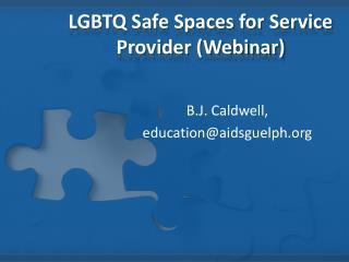 LGBTQ Safe Spaces for Service Provider (Webinar)
