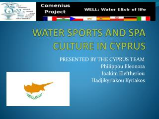 WATER SPORTS AND SPA CULTURE IN CYPRUS