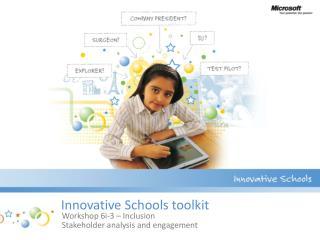 Innovative Schools toolkit