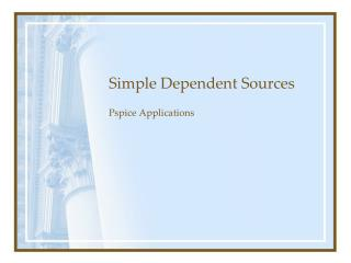 Simple Dependent Sources