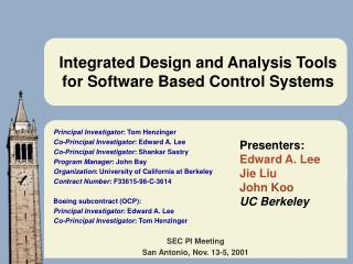Integrated Design and Analysis Tools for Software Based Control Systems