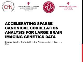 Accelerating Sparse Canonical Correlation Analysis  for Large  Brain Imaging Genetics Data