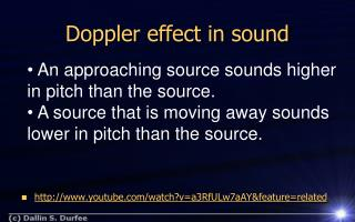 Doppler effect in sound