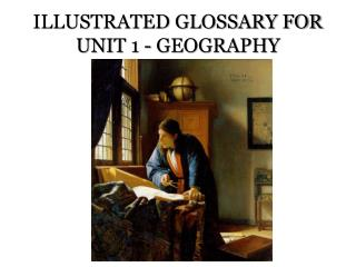 ILLUSTRATED GLOSSARY FOR UNIT 1 - GEOGRAPHY
