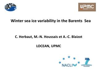 Winter  sea ice variability  in the Barents   Sea