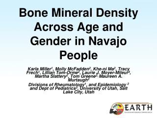 Bone Mineral Density Across Age and Gender in Navajo People
