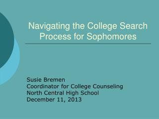 Navigating the College Search Process for Sophomores