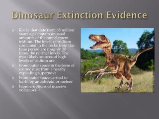 Dinosaur Extinction Evidence