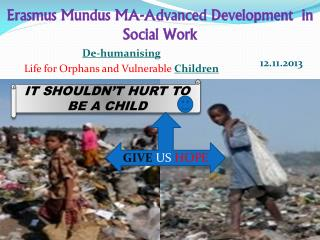 Erasmus Mundus MA-Advanced Development  in Social Work