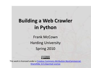 Building a Web Crawler  in Python