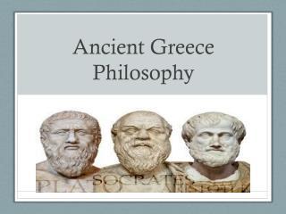 Ancient Greece Philosophy