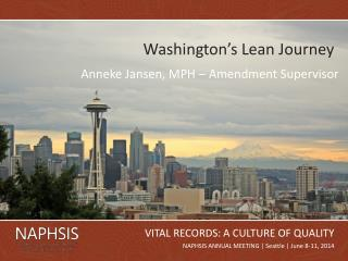 Washington's Lean Journey