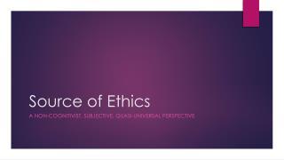 Source of Ethics