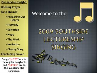 2009 Southside Lectureship Singing