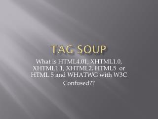 Tag Soup