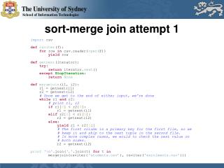 s ort-merge join attempt 1