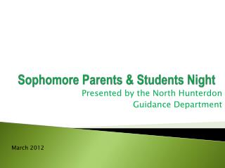 Sophomore Parents & Students Night