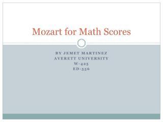 Mozart for Math Scores