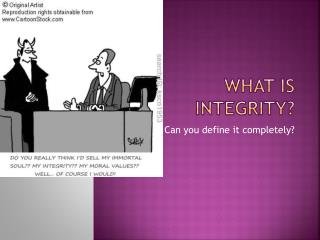 What is Integrity?