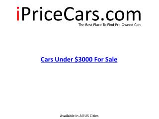 Used Cars Under $3000