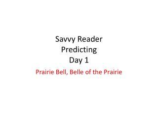 Savvy Reader Predicting Day 1