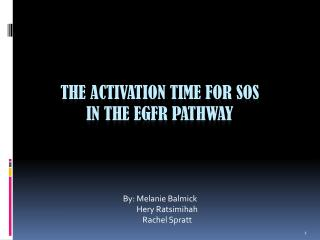 The activation time for  sos in the  egfr  pathway