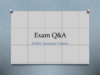 Exam Q&A