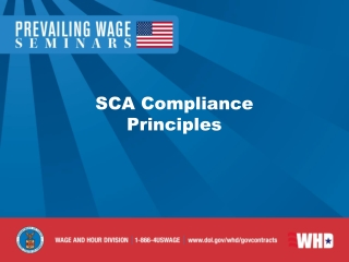Introduction to SCA Wage Determinations
