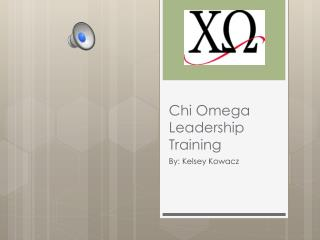 Chi Omega Leadership Training