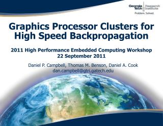 Graphics Processor Clusters for High Speed Backpropagation