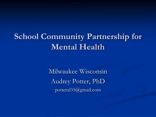 School Community Partnership for Mental Health